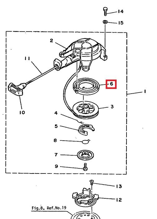 как поставить пружину на стартер лодочный мотор
